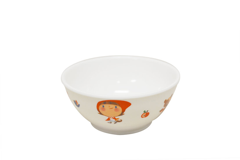 "MELAMINE RED HOOD BOWL-4.1"",ITEM#00807760,兒童碗-小紅帽(6 PCS)"