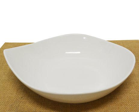 "#802824 SOUP PLATE-WHITE-10"" 白瓷弧形湯盤-強化瓷(3 PCS)"