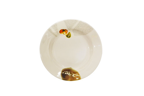 "#807820 MLM RED TOMATO ROUND DEEP PLATE-6"" 美耐皿紅番茄深圓盤(12 PCS)"