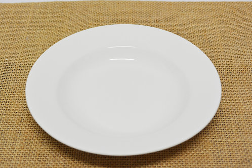 "#802873 DEEP PLATE-WHITE-9"" 白瓷深盤-強化瓷(6 PCS)"