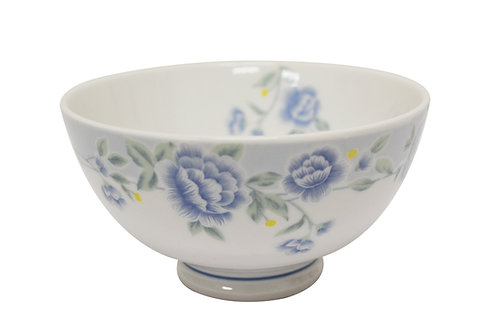 """#802305 RICE BOWL-BLUE PEONY-7"""" 藍牡丹飯碗"""