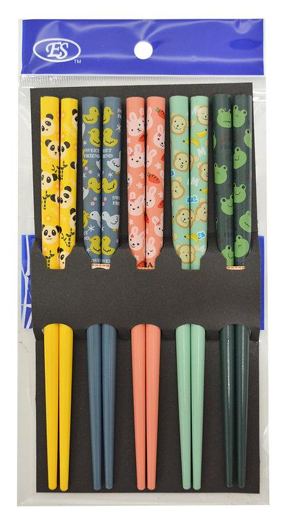 #801848 JAPANESE KIDS BAMBOO CHOPSTICKS-5 PAIRS 小孩專用日本竹筷
