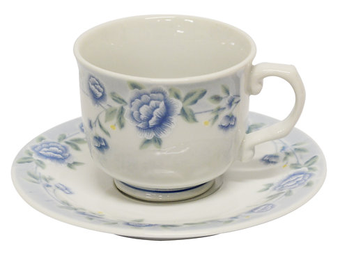 #802342 CUP AND SAUCERS-BLUE PEONY 茶杯組(6 SET)