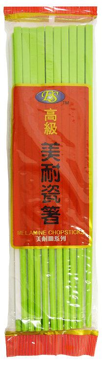 #801844 GREEN MELAMINE CHOPSTICKS-10 PAIRS 綠色美耐瓷筷