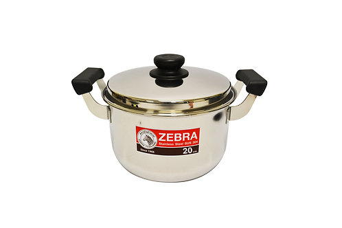 #800291 ZEBRA STAINLESS STEEL COOKING POT-20M (160374) 泰國不鏽鋼湯鍋