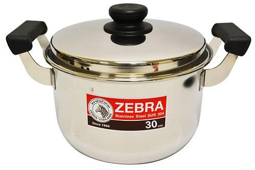 #800296 ZEBRA STAINLESS STEEL COOKING POT-30 CM(160379) 泰國不鏽鋼湯鍋