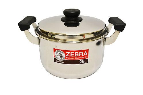 #800294 ZEBRA STAINLESS STEEL COOKING POT-26 CM(160377) 泰國不鏽鋼湯鍋
