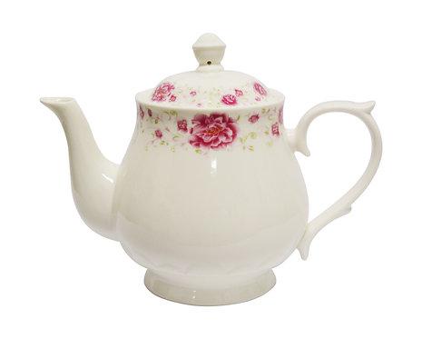 #802541 TEA POT-REED FLOWER-S紅花茶壺(1 SET)