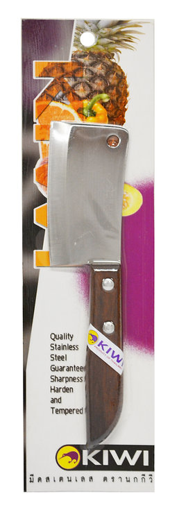 #801405P KIWI S/S SMALL CLEAVER KNIFE#504 W/PACKAGE 不鏽鋼小切肉刀