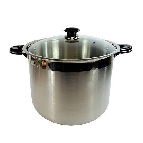 #800206 STAINLESS STEELSTOCKING POT-24 QT 不銹鋼特大湯鍋