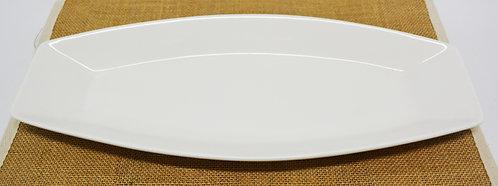 "#802825 BOAT PLATE-WHITE-15*6.5"" 白瓷船型盤-強化瓷(2 PCS)"