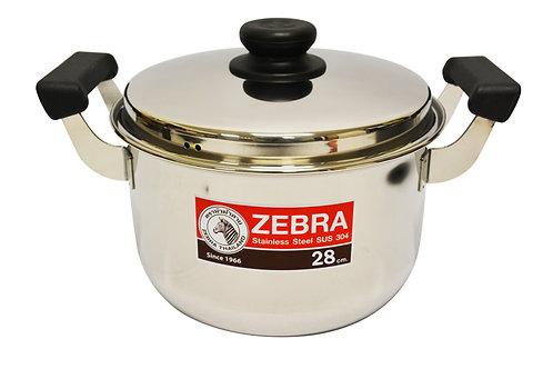 #800295 ZEBRA STAINLESS STEEL COOKING POT-28 CM(160378) 泰國不鏽鋼湯鍋