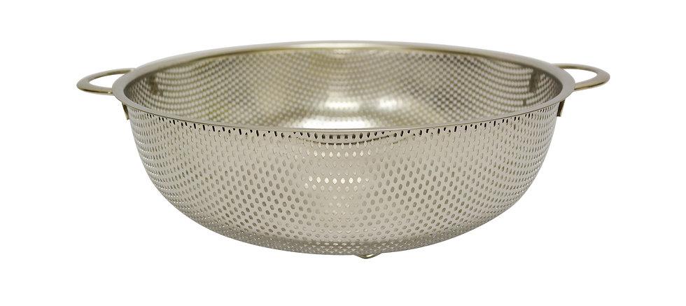 STAINLESS STEEL COLANDER STRAINER-28.5CM,ITEM#00800251, 不鏽鋼沖孔籃