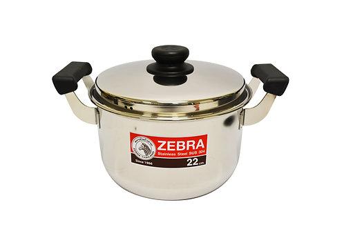 #800292 ZEBRA STAINLESS STEEL COOKING POT-22 CM(160375) 泰國不鏽鋼湯鍋