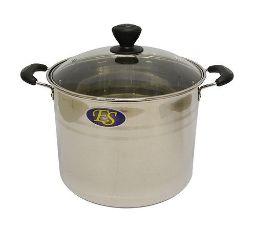 #800092 STAINLESS STEEL COOKING POT-22CM-EX HIGH 不銹鋼湯鍋-加高(玻璃蓋)