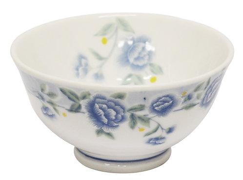"#802301 RICE BOWL-BLUE PEONY-4.5"" 藍牡丹飯碗-反口(6 PCS)"