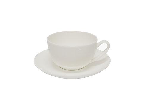 #807245 TEA CUP AND SAUCER-BONE CHIA 白色骨瓷杯碟組(6 SET)