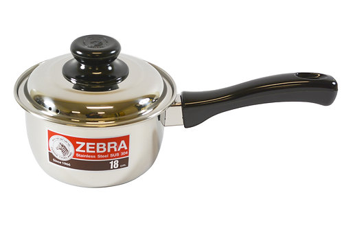 #800176 ZEBRA STAINLESS STEEL SAUCE POT-18 CM (166373)不銹鋼單柄鍋