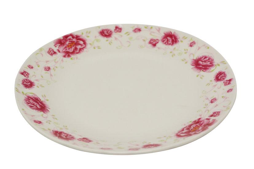 "9"" SOUP PLATE,ITEM#00802518,日常湯盤-紅花(6 PCS)"