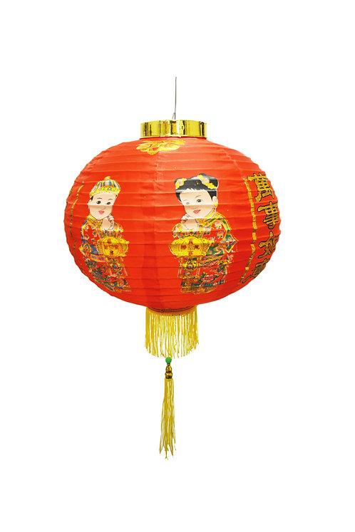 """#808191 LANTERN-LUCKY BOY-12"""" 金童玉女燈籠 (1 PAIR)"""