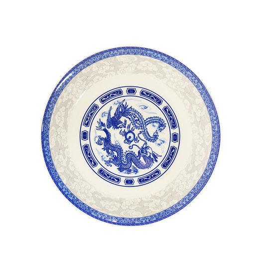 "7"" DINNER PLATES - BLUE DRAGON,ITEM#00802711,日常瓷盤-龍鳳(6 PCS)"