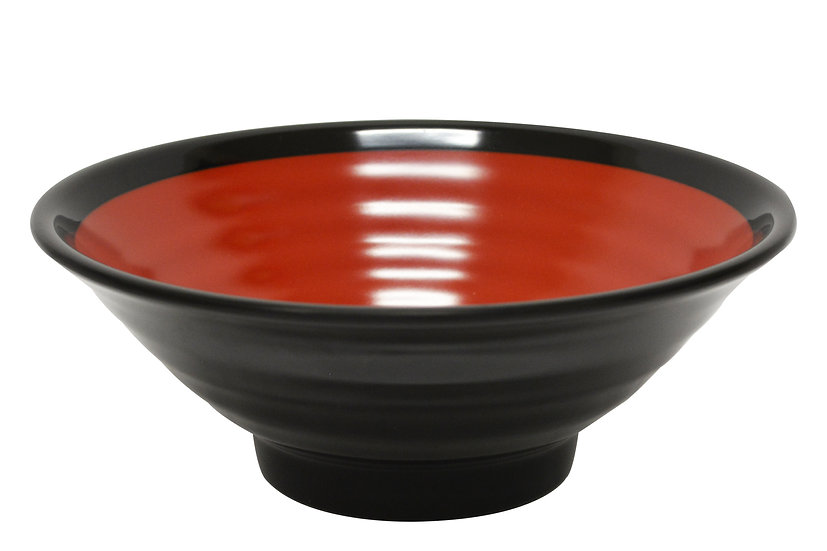 246MM MELAMINE RED/BLACK BOWL,ITEM#00807723,美耐皿紅黑碗(3 PCS)