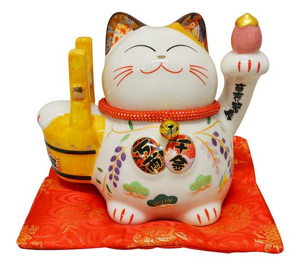 "LUCKY CAT 8"" PIGGY BANK(35828),ITEM#00808422,招財貓 錢罐(1 PCS)"