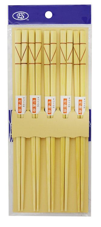 #801836 JAPANESE BAMBOO CHOPSTICKS-5 PAIRS日本竹筷 5 雙