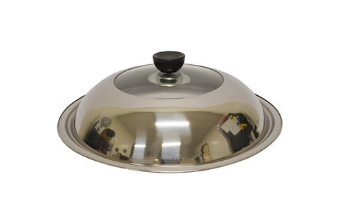 #800222 STAINLESS STEEL & GLASS LID-28CM 不銹鋼玻璃蓋