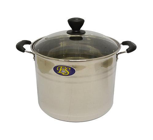 #800091 STAINLESS STEEL COOKING POT-20CM-EX HIGH 不銹鋼湯鍋-加高(玻璃蓋)