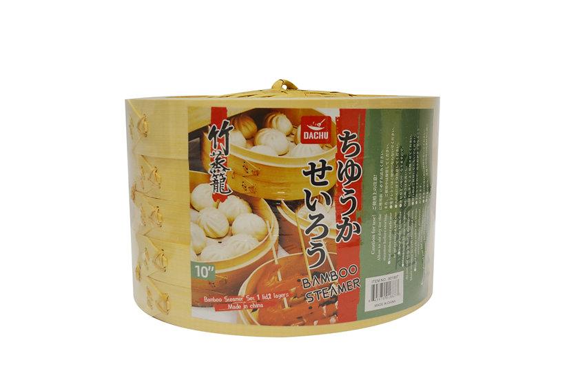 "10"" DACHU BAMBOO STEAMER 3 LAYER,ITEM#00801887, 竹蒸籠"