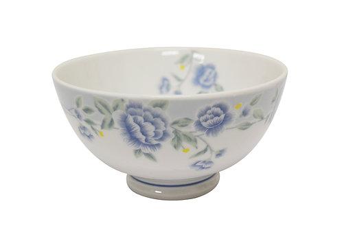 """#802304 RICE BOWL-BLUE PEONY-6"""" 藍牡丹飯碗"""