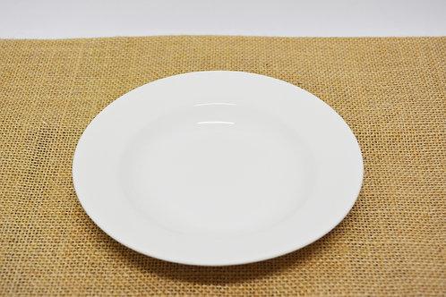 "#802870 DEEP PLATE-WHITE-6"" 白瓷深盤-強化瓷(6 PCS)"