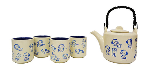 #802242 TEA SET 陶瓷 茶壺茶杯套組