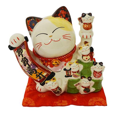 "#808443  LUCKY CAT(PIGGY BANK)-10"" (86113) 招財貓錢罐(1 PCS)"