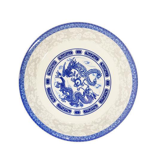 "8"" DINNER PLATES  - BLUE DRAGON, ITEM#00802712,日常瓷盤-龍鳳(6 PCS)"