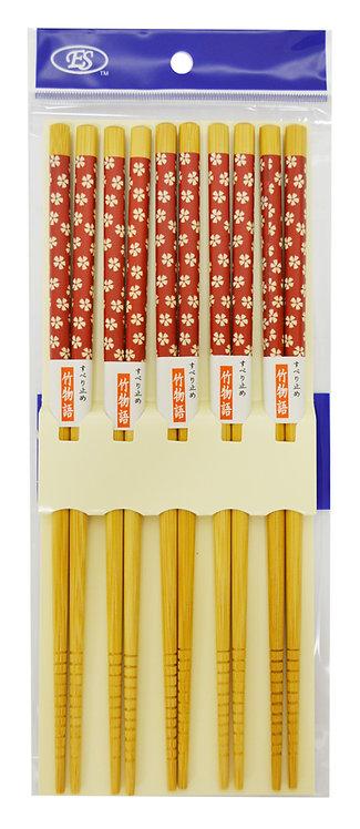#801957 BAMBOO CHOPSTICKS-5 PAIRS 天然竹筷