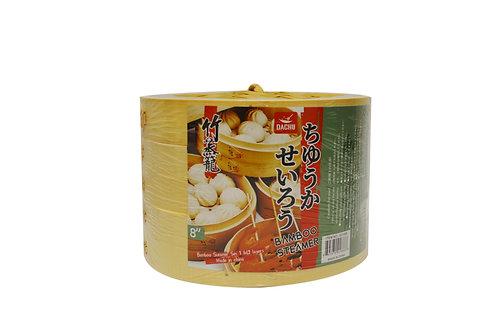 """#801886 DACHU BAMBOO STEAMER 3 LAYER-8"""" 竹蒸籠"""