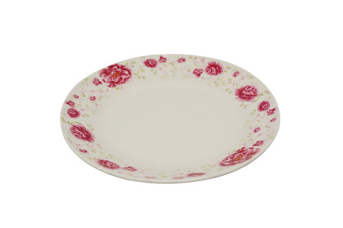"#802515 SOUP PLATE-RED FLOWER-6"" 紅花湯盤"