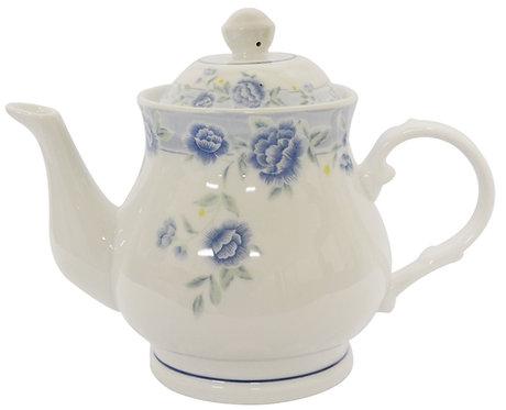 "#802340 TEA POT-BLUE PEONY-4"" 藍牡丹茶壺(1 PCS)"