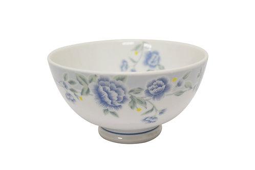 """#802303 RICE BOWL-BLUE PEONY-5"""" 藍牡丹飯碗"""