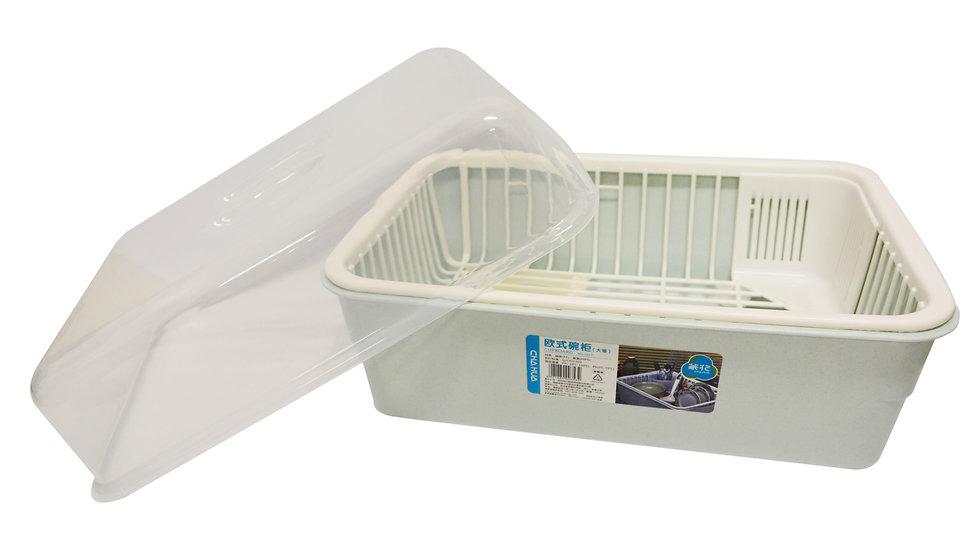KITCHEN PLASTIC CUPBOARD WITH LID-L,ITEM#00803033,碗盤籃*1 PCS