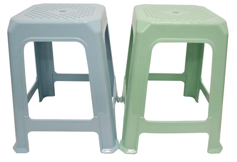 CHAHUA SQUARE HIGH STOOL-0832,ITEM#00805205,塑膠大方凳
