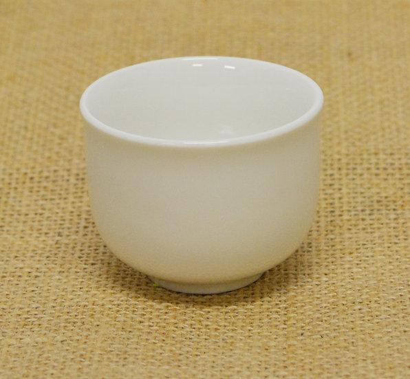 """2""""  SAKE CUP/TEA CUP, 12 PCS, ITEM# 802855, 白瓷清酒杯12 個"""