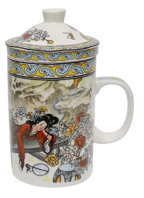 "#802163 TEA CUP-3"" 陶瓷茶杯"