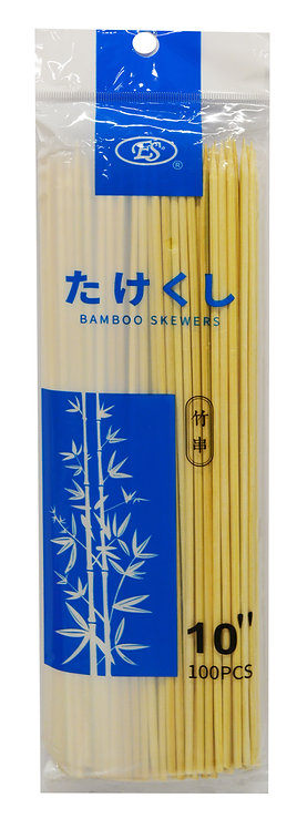 "#801812 BAMBOO BBQ SKEWERS-10""  竹串/燒烤竹串"