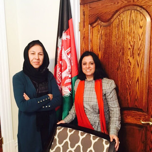 Ambassador Shinkai Karokhail and Huma Safi in Ottawa, Canada