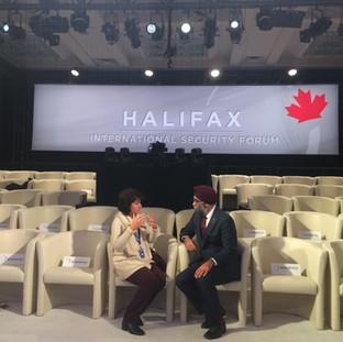 Rita Manchada at the Halifax International Security Forum
