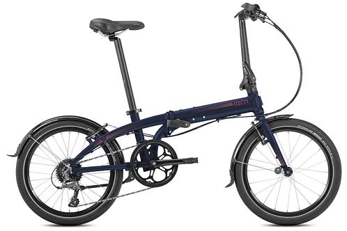 Vélo pliable adulte LINK D8 8 SPD, MIDNIGHT TERN