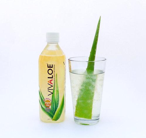 Vivaloe Original Aloe Beverage, 500ml (16.9oz) PET Plastic Bottle